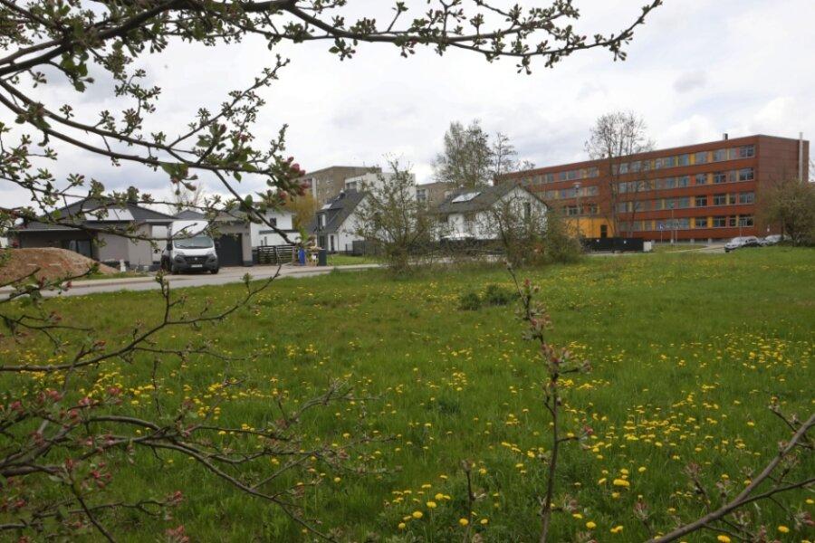 Angrenzend an das Eigenheimgebiet Jöllenbecker Straße will die Stadt Glauchau einen weiteren Standort etablieren und bietet die Fläche zum Verkauf an.