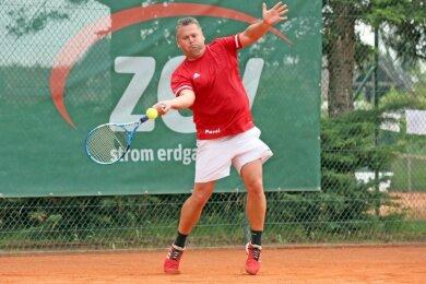 Der für Zwickau spielende Pavel Prochazak musste sich am Samstag in seinem Einzel klar mit 1:6 und 2:6 geschlagen geben.