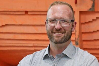 Michael Jakob will Oberbürgermeister von Zwickau werden. Dafür sammelt er zurzeit Unterstützerunterschriften.