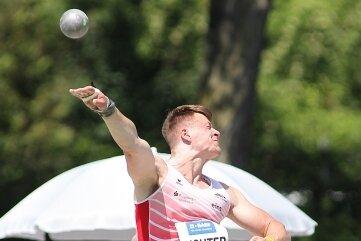 Voller Energie: Steven Richter aus Gelenau stößt zur Juniorengala Jahresweltbestleistung.