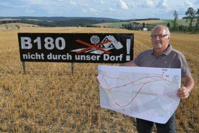 Hans-Peter Auerswald hat einen neuen Vorschlag zum Verlauf der Ortsumgehung unterbreitet.