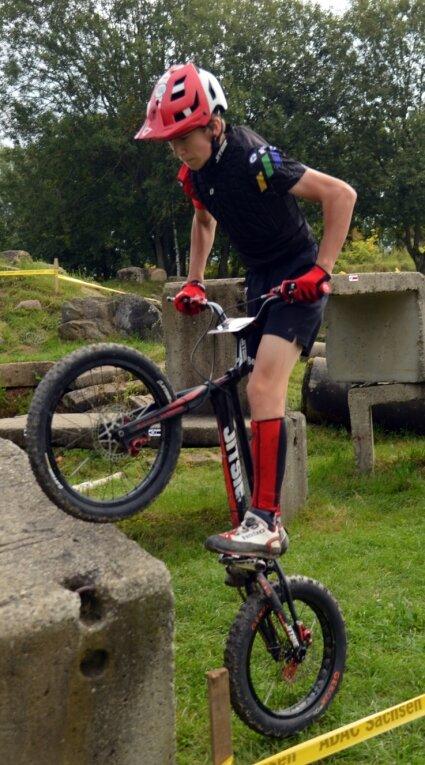 Ben Roder zählt zu den größten Talenten des MSC Thalheim. In der Mastersklasse wurde der zwölfjährige Fahrradtrialer Zweiter.