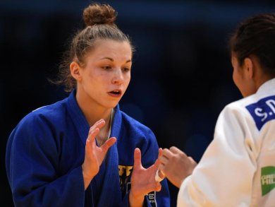 Holte WM-Bronze in Budapest:Theresa Stoll (l).