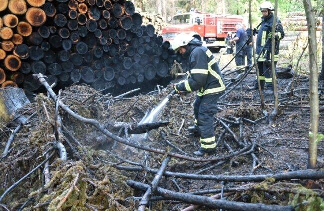 Immer wieder musste die Feuerwehr zu Einsätzen in den Fürstenwald ausrücken, hier bei einem Brand im Mai 2017.