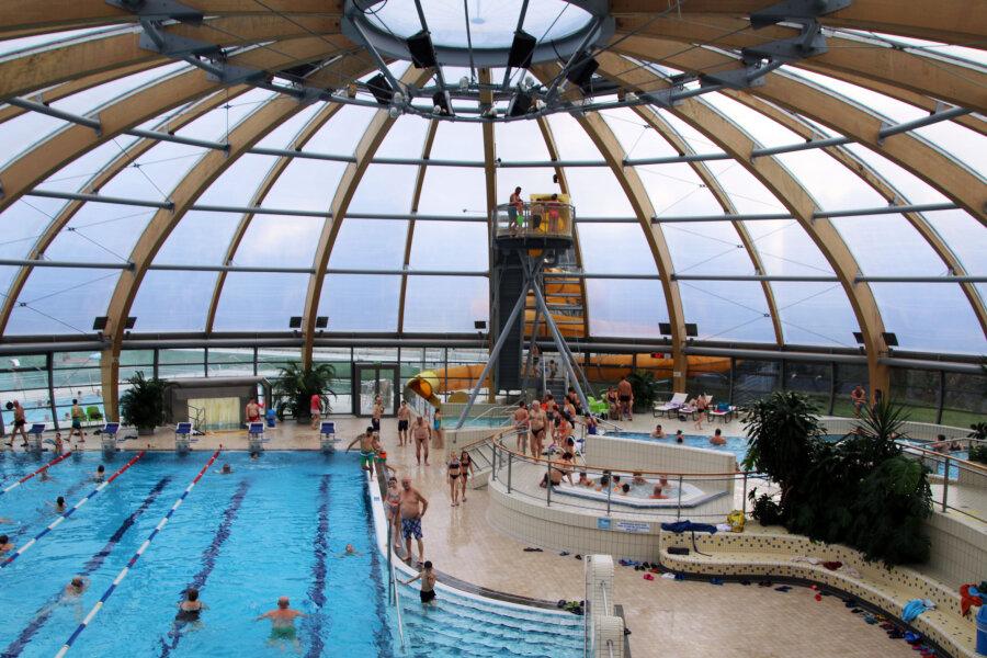 Das Freiberger Johannisbad ist in den Winterferien ein echter Besuchermagnet.