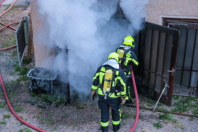 Insgesamt waren 32 Kameraden der Feuerwehr im Einsatz.
