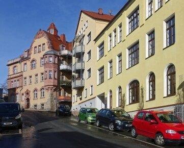 Markant ist der Anstieg der Annenstraße, die erst in jüngster Zeit saniert wurde.