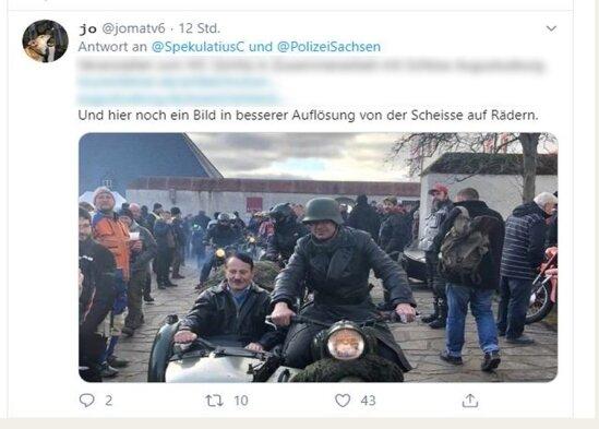 Diese Aufnahme eines Hitler-Imitators auf Augustusburg sorgt bundesweit für Schlagzeilen.