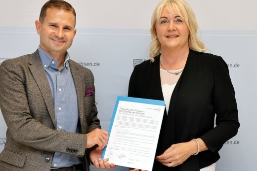 Sportchef Marc Arnold und Präsidentin Romy Polster unterzeichneten in dieser Woche die Charta der Vielfalt. Damit verpflichtet sich der Verein zur Pflege einer Organisationskultur, die von gegenseitigem Respekt und Wertschätzung geprägt ist.