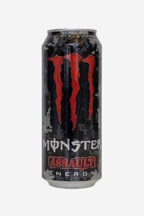 Monster Energy Assault: Mit 17 Prozent Zucker ist der Energy Drink vonCoca-Cola am süßesten. Die Halbliter-Dose enthält 83 g - 27,5 Zuckerwürfel.