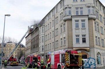 Ein Haus an der Palmstraße hat gebrannt.