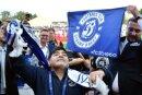 Diego Maradona bei seiner Ankunft in Brest