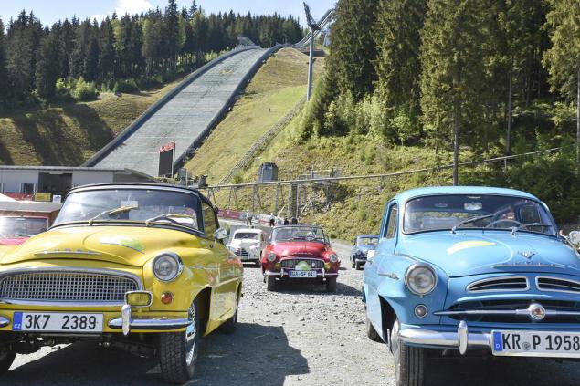 Von 10 bis 13 Uhr legten die Teilnehmer einen Zwischenstopp in Klingenthal ein.