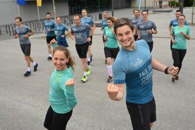 Sie sind bereit: Das Team um Stefanie Zelt und Christian Bäumler startet am kommenden Freitag zur Laufkultour.