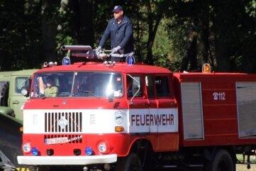 Die Kameraden der Freiwilligen Feuerwehr Zug luden zu Mitfahrten ein. Viele Kinder nutzten das.