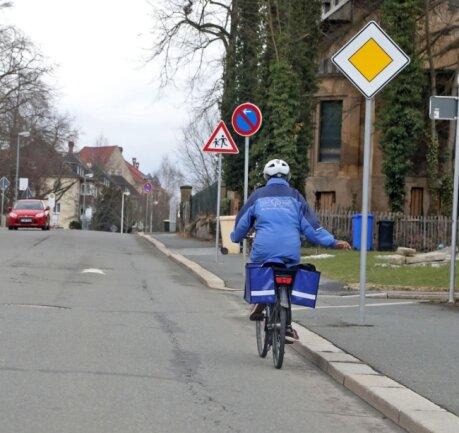 Radfahren in Glauchau wird laut ADFC-Studie von Teilnehmern der Befragungen oft als gefährlich eingeschätzt.