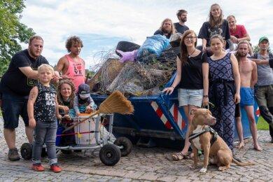 Ein voller Container war im vergangenen Jahr das Ergebnis der Müllsammlung beim Poetry-Festival am Wochenende in Rodewisch.