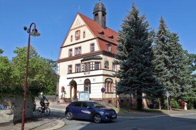 Das alte Callnberger Rathaus: Hier fand am ersten Januar 1920 die große Feier zur Fusion Lichtenstein-Callnberg statt.