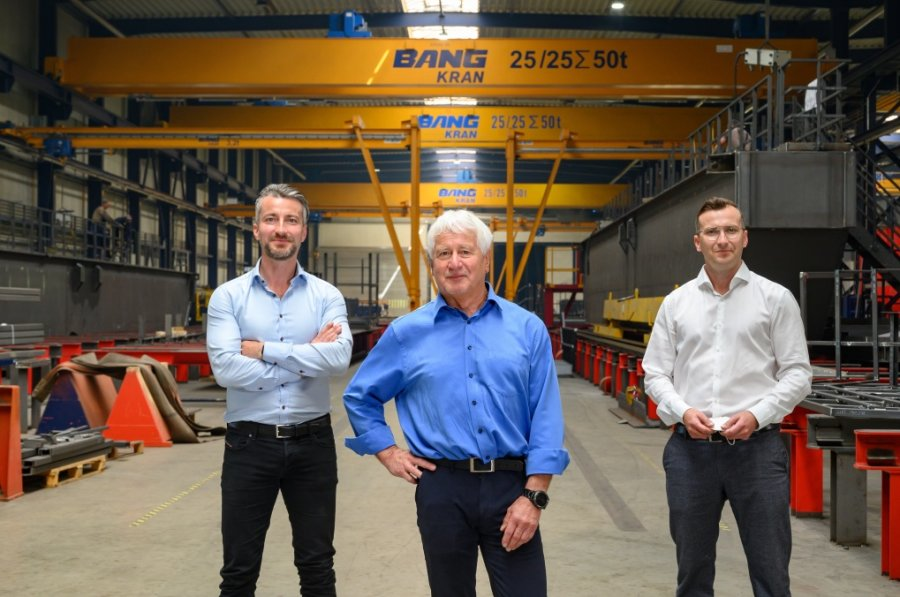 Firmengründer Werner Bang mit seinen Söhnen Christoph Bang (links) und Markus Bang.