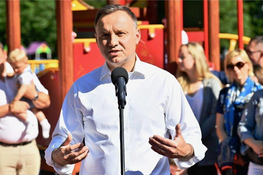 Amtsinhaber Andrzej Duda, Kandidat PiS, will Präsident Polens bleiben.