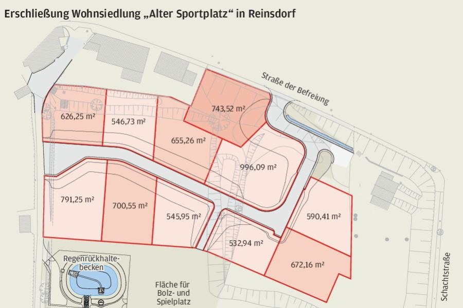 Alter Sportplatz in Reinsdorf wird zu Wohnsiedlung