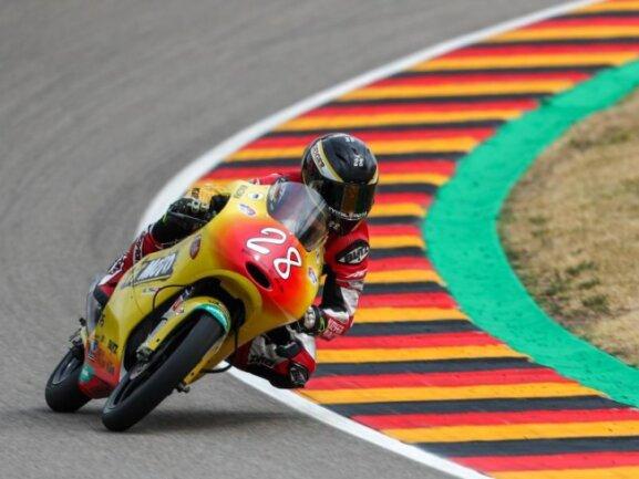 Dirk Geiger landete in der Moto3 auf Platz 23.