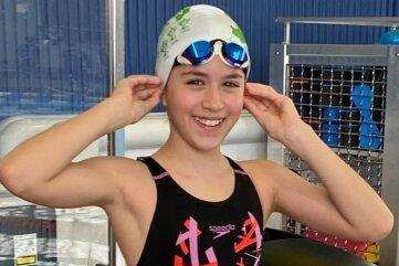 Freut sich, dass sie endlich wieder ins Becken darf: Mia Frisch vom ATSV Freiberg.