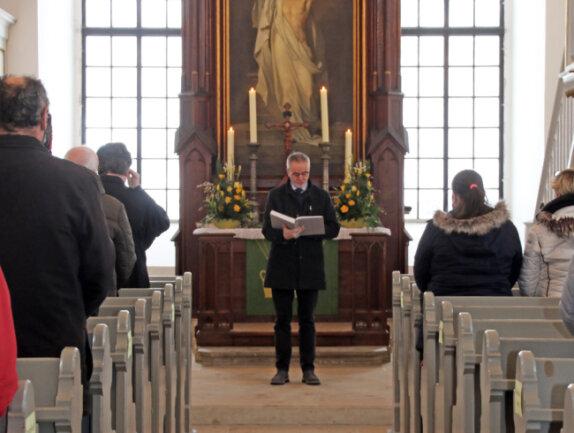 Michael Steeger, Kirchenvorstand der Freiberger Domgemeinde, war Gast des Gottesdienstes in Conradsdorf.