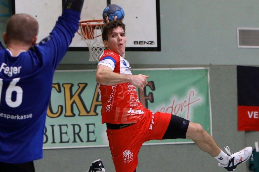 Jeron Nötzold vom HC Glauchau/Meerane erzielte am Sonntag seine ersten Oberliga-Tore.
