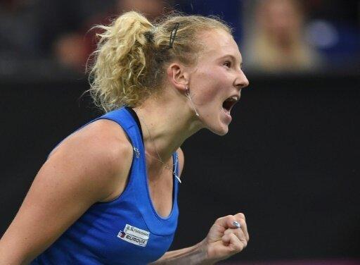 Auch Katerina Siniakova gewinnt ihr Spiel