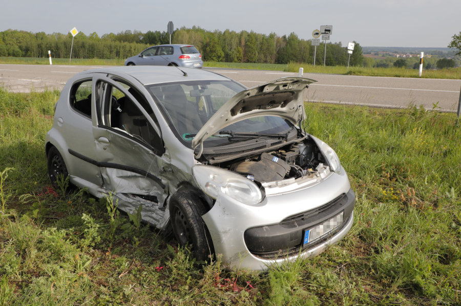 Zwei Verletzte bei Unfall auf S 203 in Frankenberg