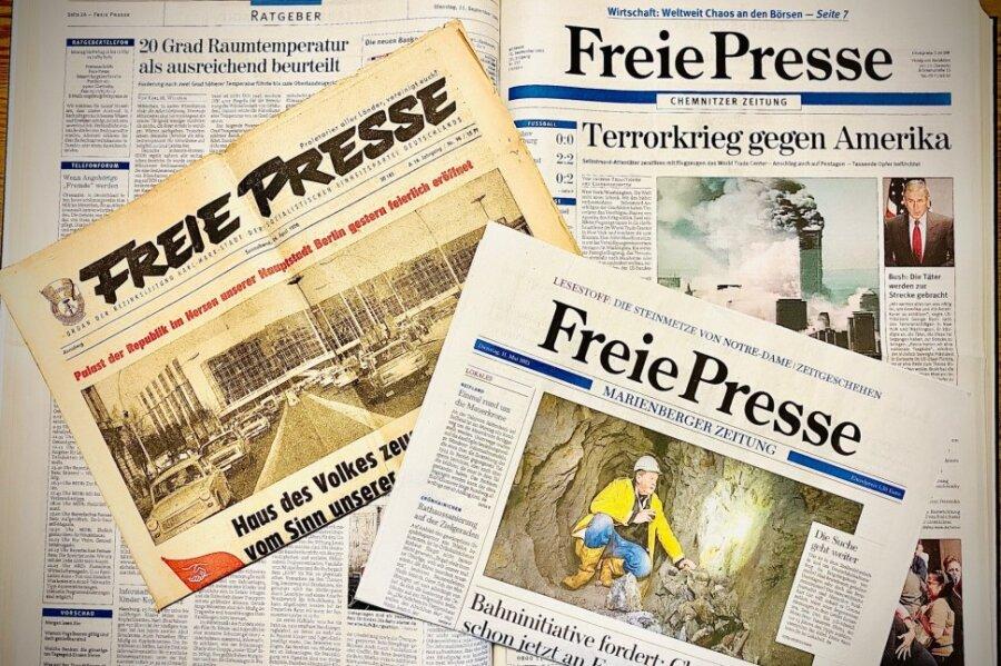Die wichtigsten Ereignisse aus 75 Zeitungsjahren
