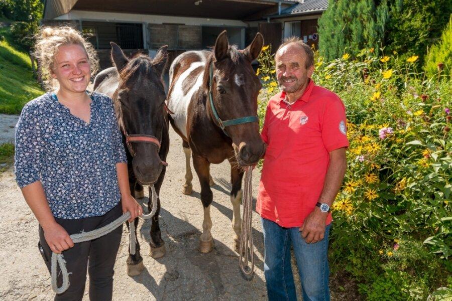 Cäcilia Schaarschmidt hat den Reiterhof in Großrückerswalde in diesem Jahr von ihrem Vater Bernd Schaarschmidt übernommen.