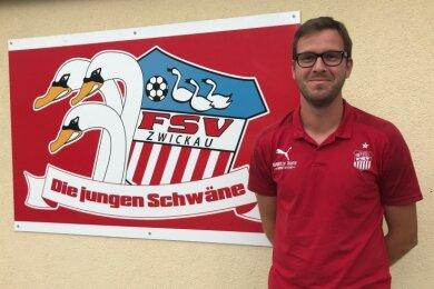 """Neues Gesicht bei den """"Jungen Schwänen"""" des FSV Zwickau: Mirko Wendland bittet die U 15 viermal in der Woche zum Training."""