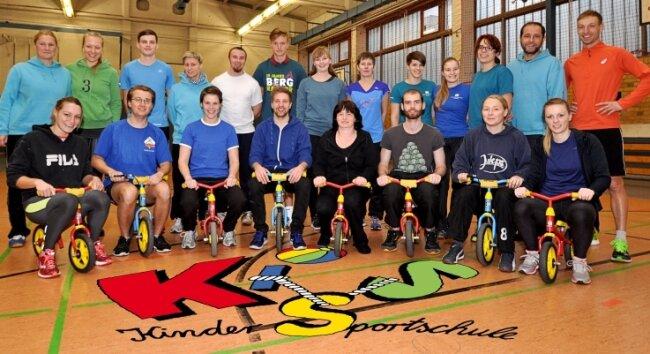 Das engagierte Team der Kindersportschule der SG Adelsberg bietet seit 2005 Kindern von sechs Monaten bis elf Jahren altersgerechten Sport an.