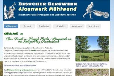 Die neue Internetseite des Alaunwerks Mühlwand.