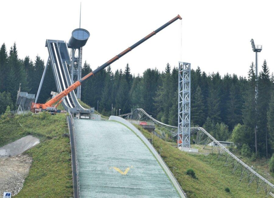 Masten für Windsegel in der Vogtland-Arena