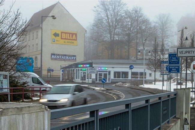 Freie Fahrt? Der Grenzübergang in Bärenstein.