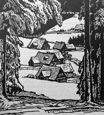 Dieser Holzschnitt stammt von Richard Grimm-Sachsenberg.