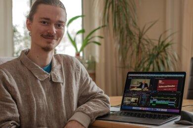 Elias Bixl, IT-Student aus dem Waldheimer Ortsteil Gebersbach, gehört zum Team, das die Beiträge für die digitale Bibelwoche produziert.