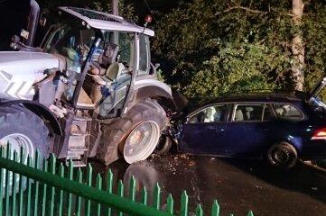 Am späten Donnerstagabend ereignete sich ein Unfall in Langhennersdorf.