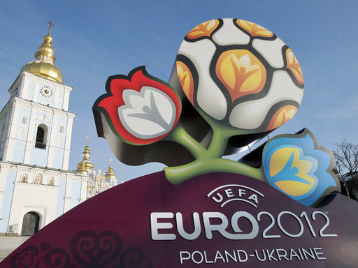 Das Logo der Europameisterschaft 2012 in der Ukraine und Polen