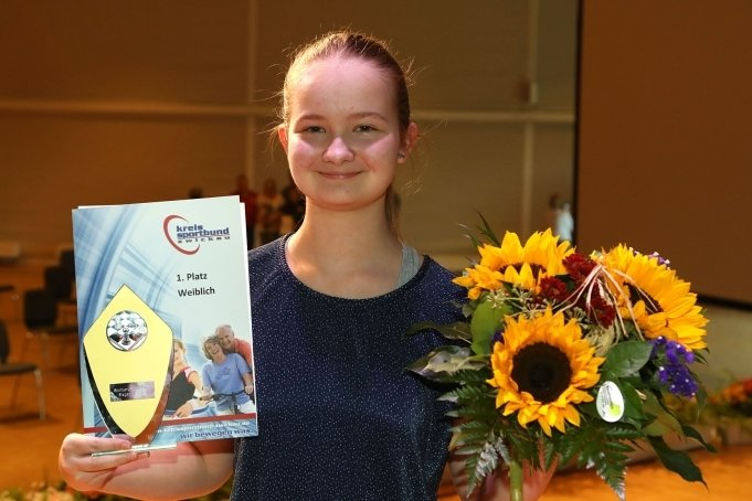 Saskia Pohle hatte am Samstag in Glauchau gut lachen: Die Schachspielerin erhielt bei der Sportlerwahl die meisten Stimmen in der Kategorie weiblich.