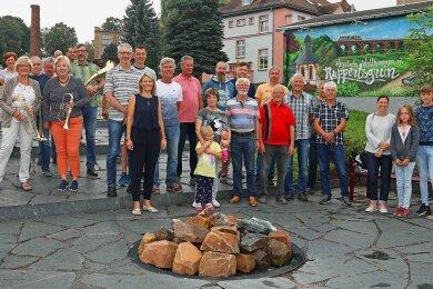 Die Ruppertsgrüner feierten am Samstag ihre neu gestaltete Ortsmitte.