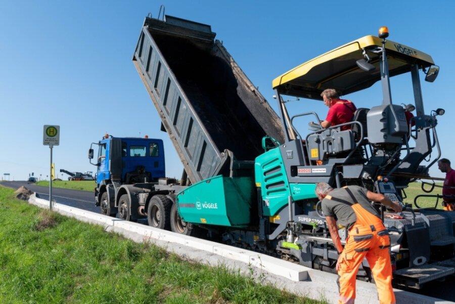 Megabaustelle B 175 bei Rochlitz: Erste Etappe fast geschafft