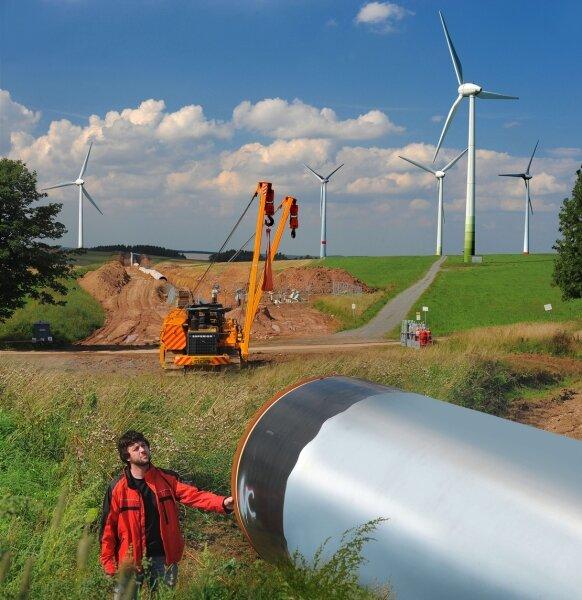 """<p class=""""artikelinhalt"""">Größtes in Kauf genommenes Konfliktpotenzial: Die Opal-Erdgas-Leitung soll den Windpark Pfaffroda durchschneiden. """"Windmüller"""" Dirk Unger kämpft vor höchsten Gerichten dagegen. Wolfgang Thieme</p>"""