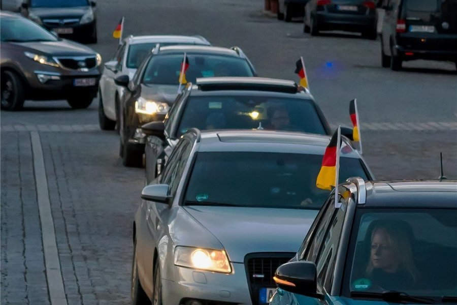 Annaberg-Buchholz: AfD protestiert gegen Lockdown