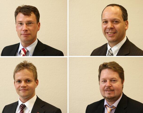 Experten beim Telefonforum (v.l.o.n.r.u.): Frank Nöbel, Tobias Wachs, Thomas Stein und Stephan Gelhausen.