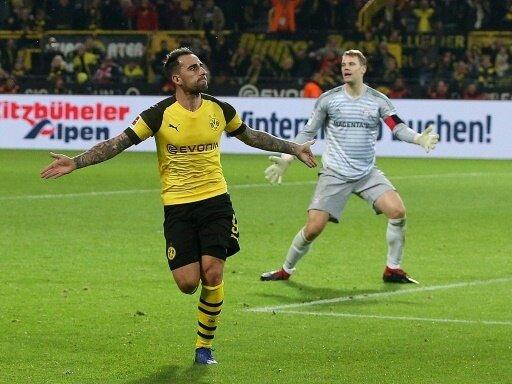Paco Alcacer erzielt den Siegtreffer für den BVB