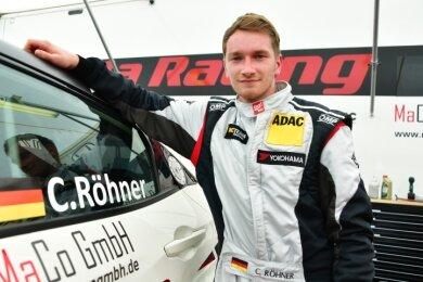 Christopher Röhner aus Mülsen würde gern häufiger im Honda Civic auf das Gaspedal drücken.